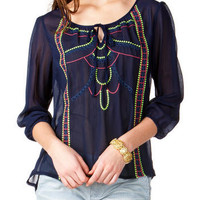 PANTEGO EMBROIDERED BLOUSE