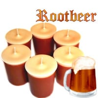 6 Rootbeer Votive Candles Creamy Delicious Drink Scent