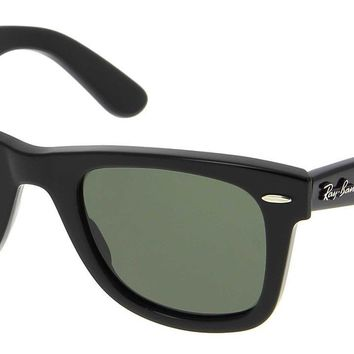 Sunglasses Ray-Ban RB2140 WAYFARER 901 BLACK/GLASS GREEN