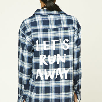 Plaid Flannel Graphic Shirt