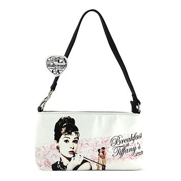 Audrey Hepburn Breakfast at Tiffany Faux Leather Clutch Bag