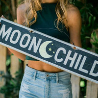 Moon Child with Moon and Stars
