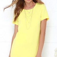 Idlewild Yellow Shift Dress