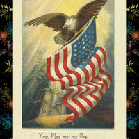 """Celebrate the Fourth of July and Send this great Card """"Happy July 4th""""  Vintage look Postcard Stationary Standard Size Set of 12 Card"""