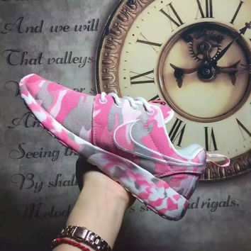 NIKE Women Men Running Sport Casual Shoes Sneakers camouflage Pink