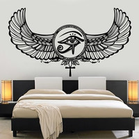 Vinyl Wall Decal Eye Of Horus Ra Egyptian God Protective Amulet Stickers Unique Gift (1205ig)