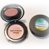 Sand In My Suit Pressed Mineral Bronzer Makeup Summer Face Bronzer in Compact