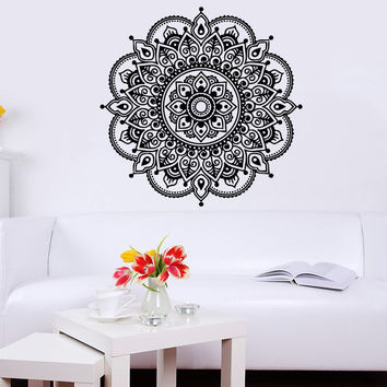 Wall Decal Mandala Ornament Geometric Moroccan Pattern Yoga Bedroom Decor C172