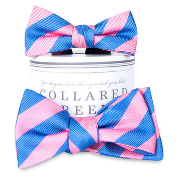 Father & Son Bow Tie Combo, Pink/Blue, Ties & Bowties