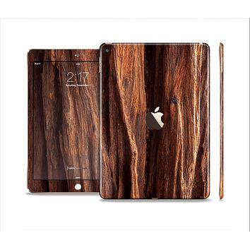 The Aged RedWood Texture Skin Set for the Apple iPad Air 2