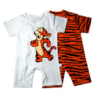 Newborn Baby Rompers Short Sleeve Cotton Baby Clothes Baby Infant Cartoon Tiger Clothing Romper Kids Gifts 2017 Summer