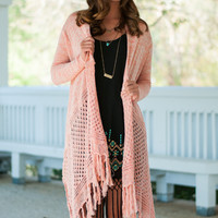 String Me Along Cardigan, Coral