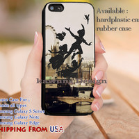 London City Peter Pan iPhone 6s 6 6s+ 5c 5s Cases Samsung Galaxy s5 s6 Edge+ NOTE 5 4 3 #cartoon #animated #disney #peterpan dl12