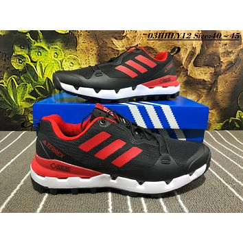 KUYOU A451 Adidas Terrex Gore Men Casual Sneakers Black Red