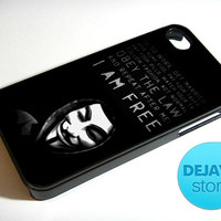 Anonymous Mask Quote iPhone 4 / 4S Case