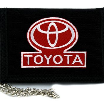 Toyota Automobile Tri-fold Wallet Alternative Clothing Grunge Metal Motorcycle