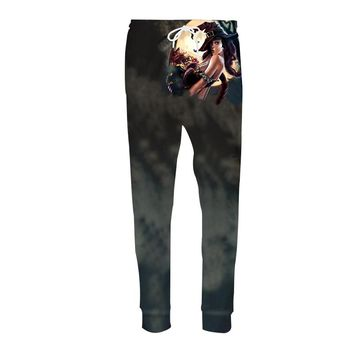 LiZhiYang 3D print Men Women Funny casual Helloween Sexy witch Skeleton Fashion Clothes Sweatpants Autumn Winter Style Trousers