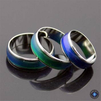 Stainless Steel Silver Galaxy Mood Ring