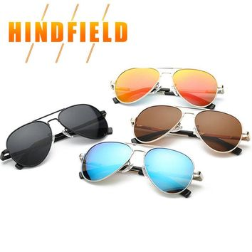 Fashion Polarized Kids Aviator Sunglasses Kids Boys Girls Classic Design Silver Frame Blue Lens Pilot Sun Glasses For Children