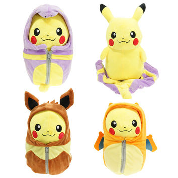 Pokemon Pikachu Robe Cosplay Brinquedos Plush Toys Fashion Cartoon Plush Toys