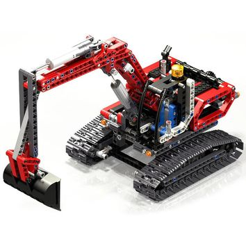DHL Lepin toys for children 20025 legoINGlYs Technic The Red Excavator model Building Block toys Educational Boys birthday gifts