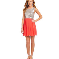 B. Darlin Sequin Bodice Sleeveless Dress | Dillard's Mobile