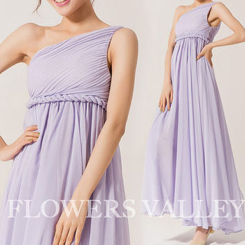 Greek Goddess Elegant Dress Purple Gown/ Bridesmaid Dress/ Long Dress 3 Colors