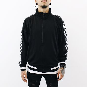 Cole Checkered Track Jacket (Black)
