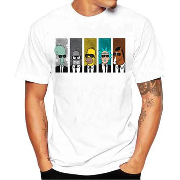 New Rick And Morty Casual Men T-shirts Funny Design Digital Printing 100% Cotton T shirts Top Tees Customized Rick and Morty US