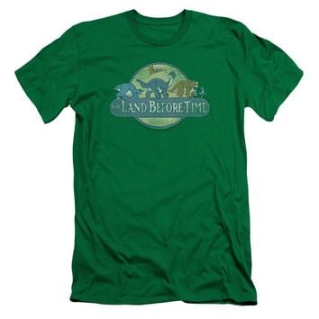 Land Before Time - Retro Logo Short Sleeve Adult 30/1 Shirt Officially Licensed T-Shirt