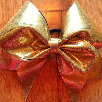 Gold cheer bow