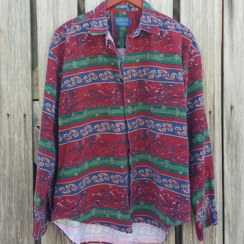 Vintage Men's Pendleton Shirt - Winter Holiday Shirt - SZ XL