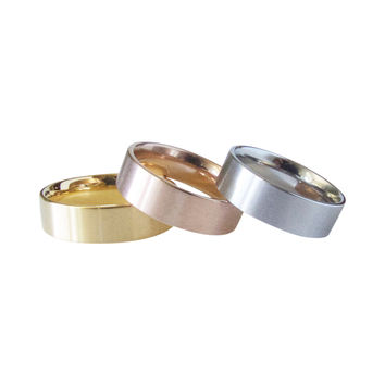 Polished Surgical Steel Thick Band