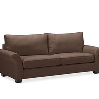 PB COMFORT ROLL UPHOLSTERED BOX-EDGE CUSHION SOFA