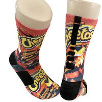 Custom Flamin Hot Cheetos Nike Elite Crew Socks