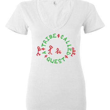 A Tribe Called Quest Bella Ladies Deep V-Neck Shirt
