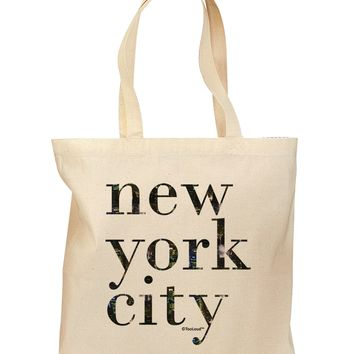 New York City - City Lights Grocery Tote Bag by TooLoud