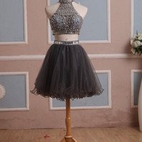 Two Pieces Homecoming Dress Prom Dresses pst0876