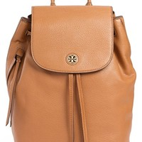 Women's Tory Burch 'Brody' Leather Drawstring Backpack