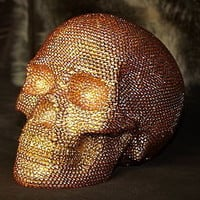 gold crystal encrusted skull by begolden | notonthehighstreet.com