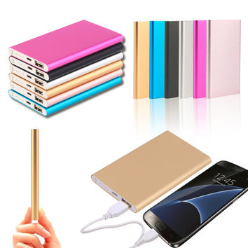 Portable Size Super Thin 10400MAH External Power Bank Mobile Phone Battery Power Supply Charger For Smart Phones