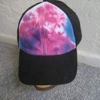 Hot Pink and Blue Trucker Tiedye Hat