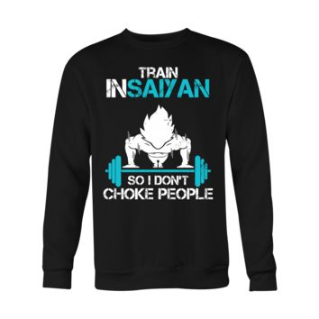 Super Saiyan Goku Choke Training Gym Men Sweatshirt T Shirt - TL00551SW