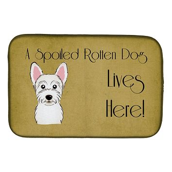 Westie Spoiled Dog Lives Here Dish Drying Mat BB1474DDM