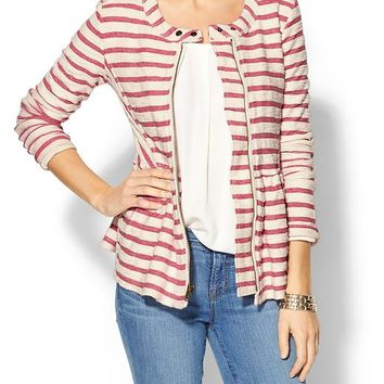 Piperlime | Striped Peplum Jacket