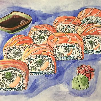 'Eukaryotic Sushi Roll' by RaLiz