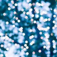 abstract photography bokeh 8x10 8x12 fine art photography fairy lights teal art print lights in trees abstract light photography blue decor