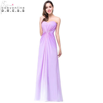 Robe de Festa de Casamento Light Purple Ombre Bridesmaid Dresses 2017 Sexy Backless Vestido Madrinha Robe Demoiselle D'honneur