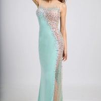 Fitted Long Prom Dress 92759 - Prom Dresses