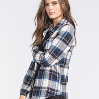 Full Tilt Womens Boyfriend Flannel Shirt Multi  In Sizes